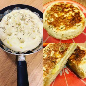 フライパンチーズパン