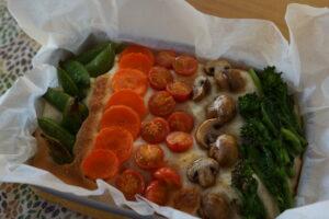 春野菜のフォカッチャ
